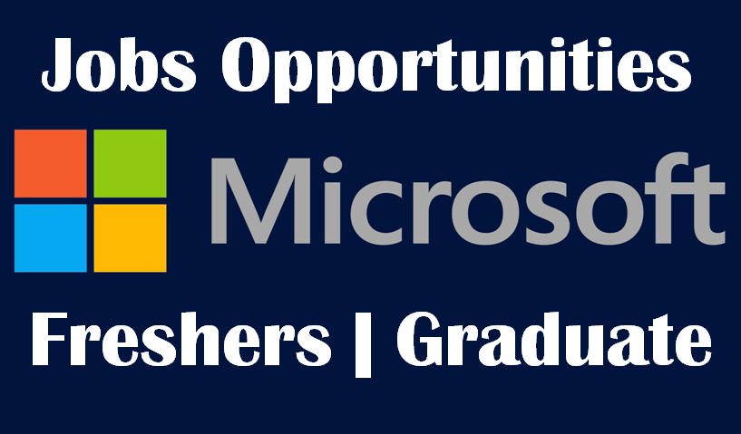 Microsoft Jobs Opportunities for Freshers