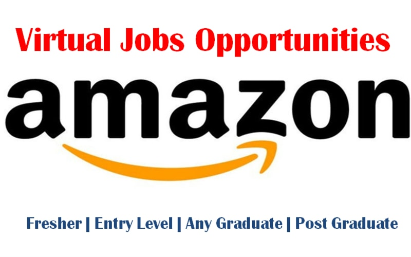 Virtual (Online/Work From Home) Jobs Opportunities at Amazon for Freshers
