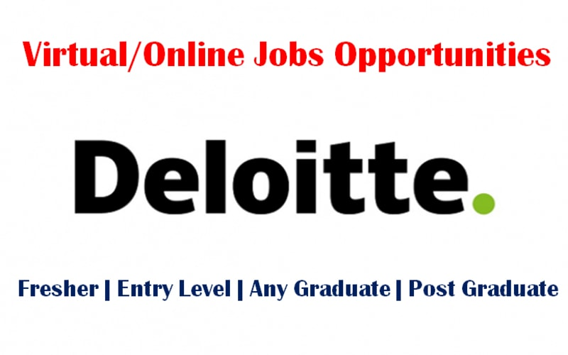 Deloitte Jobs (Virtual/Online) | Analyst | Senior Analyst | Any Graduate | 0 - 3 yrs | Apply Now
